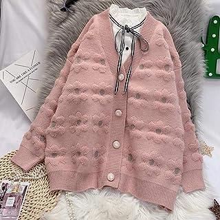 DAJUZI Cárdigans para Mujer, suéter Informal para Mujer, de un Solo Pecho, cálido, Elegante, Otoño Invierno, jerséis Suelt...