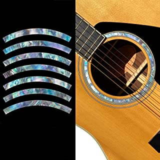 Inlay Stickers for Acoustic Guitars - Soundhole Rosette/Purfling - Stripe - Abalone Mix