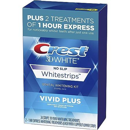 White Whitestrips Vivid Plus Teeth Whitening Kit, Individual Strips