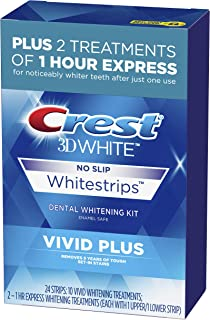 Crest 3D White Whitestrips Vivid Plus - 24 STRIPS-10 VIVID WHITENING TREATMENTS