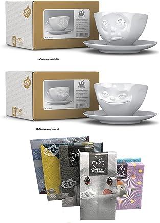 Preisvergleich für Fiftyeight Kaffeetassen 2er SET, 200 ml, OCH BITTE+GRINSEND, 200 ml, Fiftyeight Products