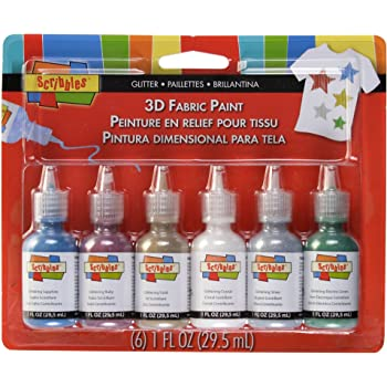 I Love to Create Scribbles 3D Fabric Paint 1oz 6/Pkg-Glittering