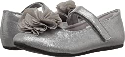 First Steps Shimmer Mary Jane with Flower (Infant/Toddler)