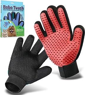 Pet Grooming Glove,Gentle Deshedding Brush Glove Efficient Pet Hair Remover Mitt,Enhanced Five Finger Design,Breathable & ...
