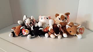 Cat Beanie Baby Set of 7: Chip, Zip, Pounce, Nip, Prance, Flip, and Snip