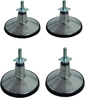 Molded Steel 4 Lb Billiard Table Leg Levelers - Set of 4