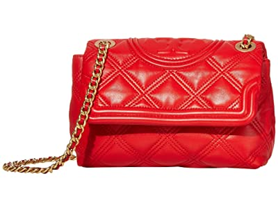 Tory Burch Fleming Soft Small Convertible Shoulder Bag (Brilliant Red) Handbags