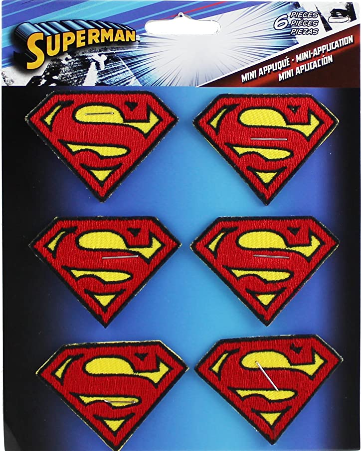 Application DC Comics Superman 6 Logo Patch Set