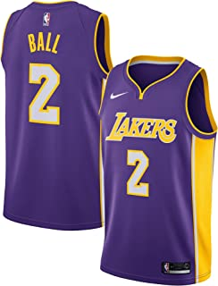 NIKE Lonzo Ball Los Angeles Lakers Icon Edition Purple Jersey - Men's Small