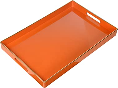 A&B 42542-AB 16x10 Plastic Decorative Tray,Orange