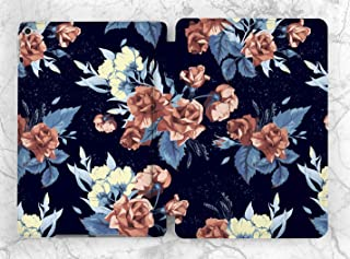 Navy Blue Floral Roses Case For Apple iPad Mini 1 2 3 4 5 iPad Air 2 3 iPad Pro 9.7 10.5 11 12.9 inch iPad 9.7 inch 2017 2018 2019
