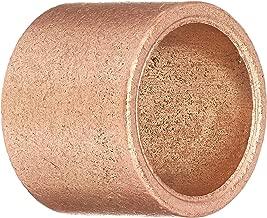 Bunting Bearings ECOP081008 ECO Oiled Sleeve (Plain) Bearing, Powdered Metal, SAE 841, 1/2