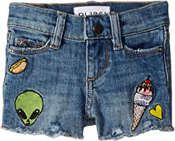DL1961 Kids - Lucy Patch Work Shorts in Almost Famous (Toddler/Little Kids)