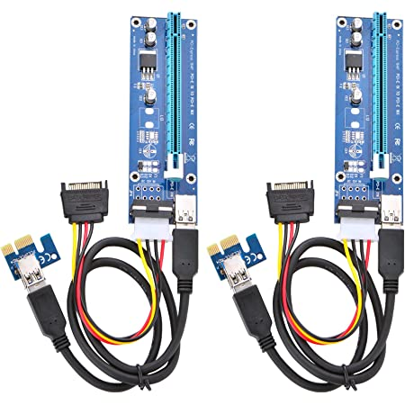 Cables 10Pcs//Lot 60CM PCI PCIE Express PCI-E 1X to 16X Riser Card Extender 6pin Big 4Pin IDE Power Adaptor USB 3.0 Cable for BTC Miner Occus Cable Length: 60CM