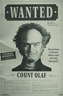 Trends International Netflix Series of Unfortunate Events - Wanted Wall Poster, 22.375