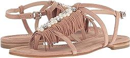 Pearl Fringe Flat Sandal