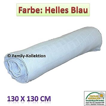 Spukt/ücher in verschiedenen Farben 1 St/ück 130x130 Oeko-Tex100 Standard Mulltuch Mullwindeln pink