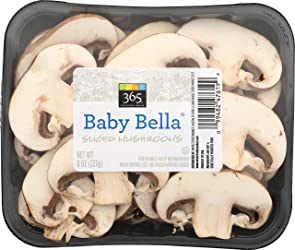 365 Everyday Value Baby Bella Sliced Mushrooms, 8 oz