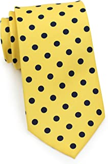 Bows-N-Ties Men's Necktie Bold Polka Dot Microfiber Satin Tie 3.1 Inches