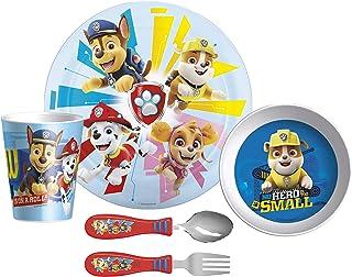 Zak Designs Paw Patrol Dinnerware Set Includes Plate, Bowl, Tumbler and Utensil Tableware, Made of Durable Material and Pe...