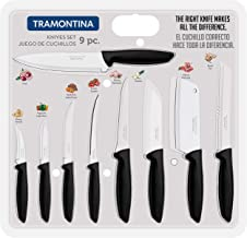 Tramontina 9 Pieces Complete Knives Set/Stainless Steel blades & Ergonomic polypropylene handle