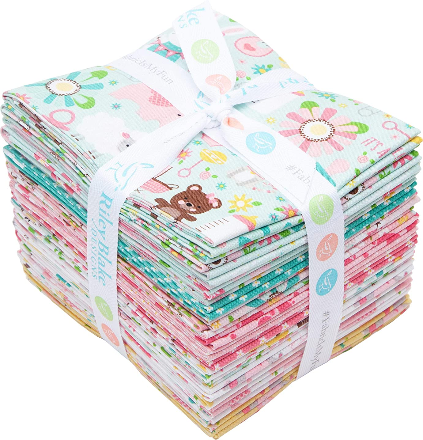 Lori Whitlock Sweet Baby Girl 21 Fat Quarters Riley Blake Designs FQ-8190-21