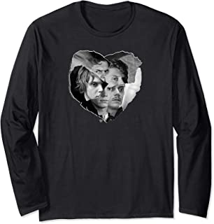 American Horror Story Evan Peters Cut Paper Heart Collage Long Sleeve T-Shirt