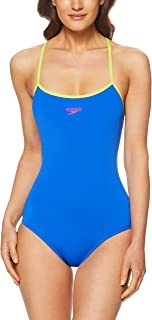 Speedo Women's TIE Back ONE Piece, Beautiful Blue/Mojito
