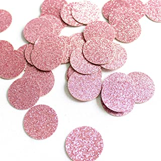 Glitter Paper Confetti - Rose Gold Circle Diamond Ring Crown, Gold Circle Heart Diamond Ring Crown Stars for for Party Decor and Table Decor - 100pcs/pack