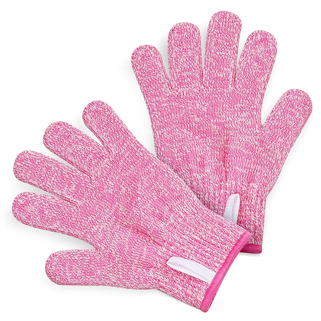 TruChef KIDS Cut Resistant Gloves (Ages 4-8) - Maximum Kids Cooking Protection. Safe hands from REAL Kitchen Knives and Tools. Perfect for Oyster Shucking and Whittling.