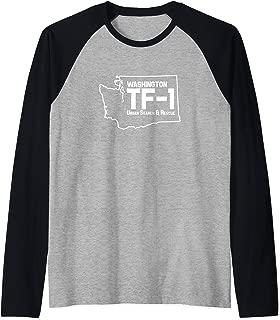 Urban Search & Rescue Washington Task Force 1 WA-TF1 Uniform Raglan Baseball Tee