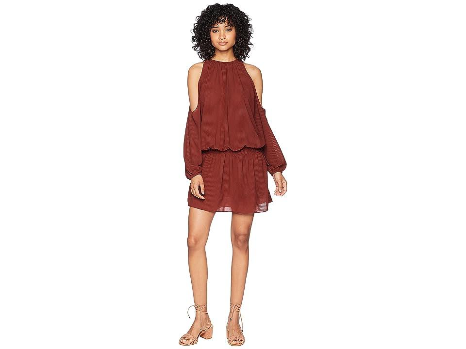 Bishop + Young Dropwaist Mini Dress (Rust) Women