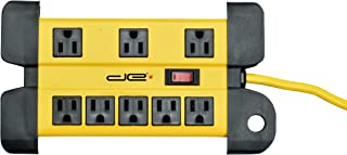 Digital Energy 25 Foot Long Surge Protector 8-Outlet Heavy Duty Metal Mountable 1050 Joules Protection Extension Cord Power Strip with Cord Management, 25 Foot Long Extension Cord, UL Listed