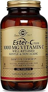 Solgar - Ester-C Plus Vitamin C (Ester-C Ascorbate Complex) 1000 mg, 180 Tablets
