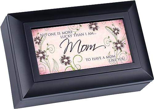 Envío rápido y el mejor servicio Mom Mom Mom Matte negro Petite Music Box   Jewelry Box Plays Wonderful World by Cottage Garden  conveniente