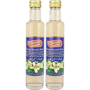 Chtoura Garden - Orientalisches Orangenblütenwasser ideal zum Backen und Kochen - Blütenwasser zur Aromatisierung von Süßspeisen, Backwaren und Getränken im 2er Set á 250 ml Glasflasche