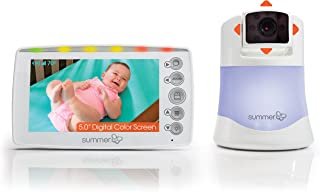 Summer Infant Panorama Video Baby Monitor with 5-inch Screen and Remote Steering Camera