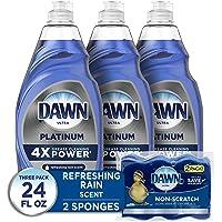 Deals on 3CT Dawn Dish Soap Platinum Dishwashing Liquid + 2 Sponges