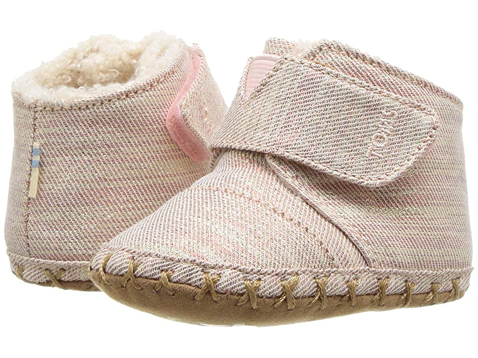 TOMS Kids Cuna (Infant/Toddler) (Rose Cloud Twill Glimmer) Girl