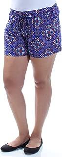 BEBOP Womens Blue Tie Printed Straight leg Intimates Short Juniors US Size: M