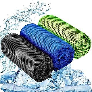 "YQXCC 3 Pcs Cooling Towel (47""x12"") Cool Cold Towel for Neck, Microfiber Ice Towel, Soft..."