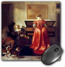 3dRose BLN Music Featured in Fine Art Collection – Woman Playing a Virginal, Another Singing and a Man Playing a Violin – MousePad (mp_171442_1)