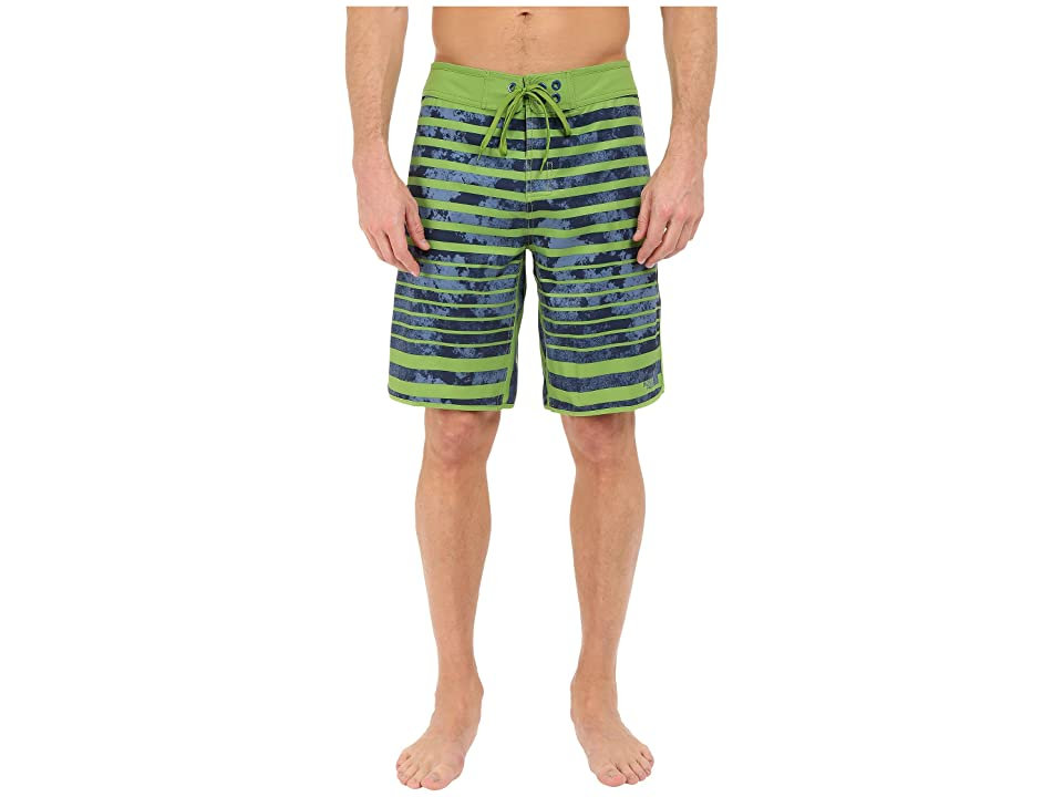The North Face Whitecap Boardshorts (Vibrant Green Moss Stripe (Prior Season)) Men