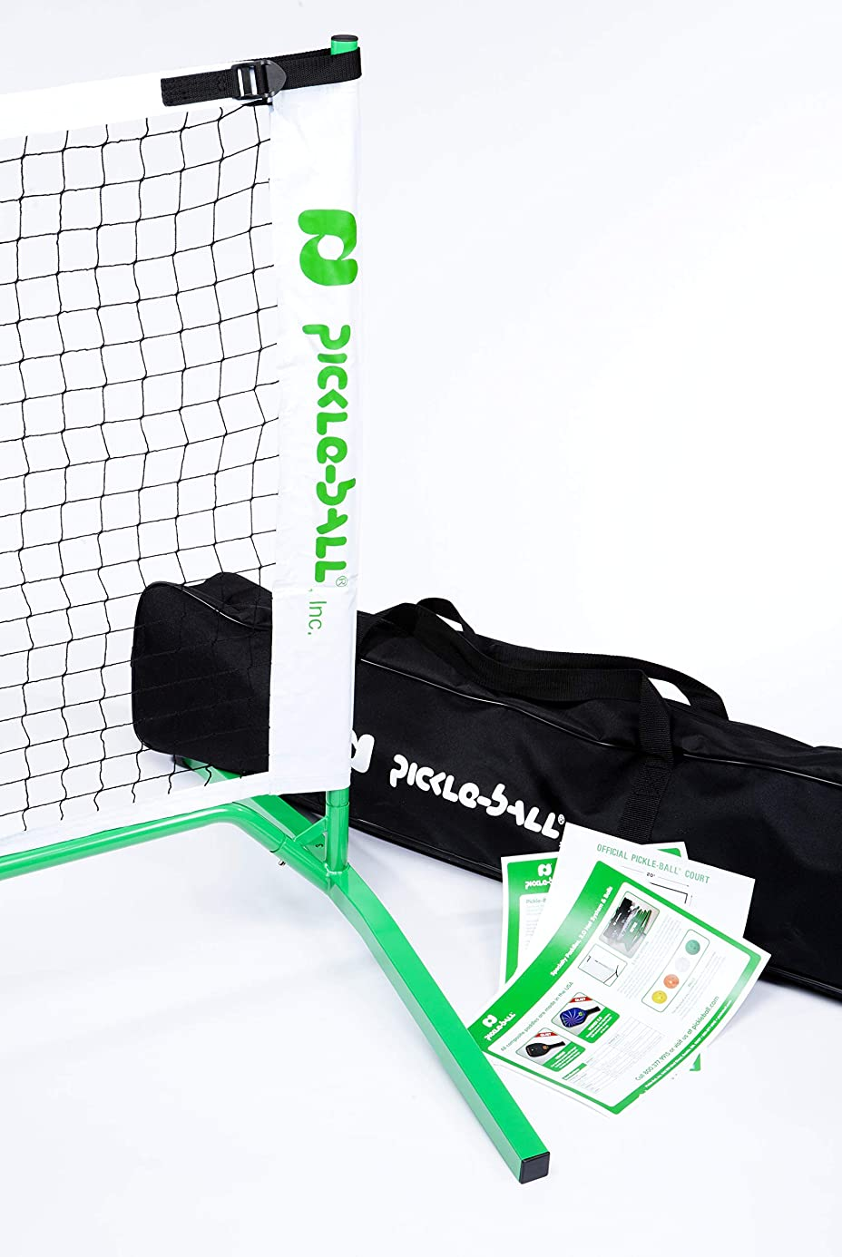 3.0 Portable Pickleball Net System (Set Includes Metal Frame and Net in Carry Bag) | Durable and Easy to Assemble