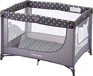 Comfortable Playard,Sturdy Play Yard with Mattress (Grey)