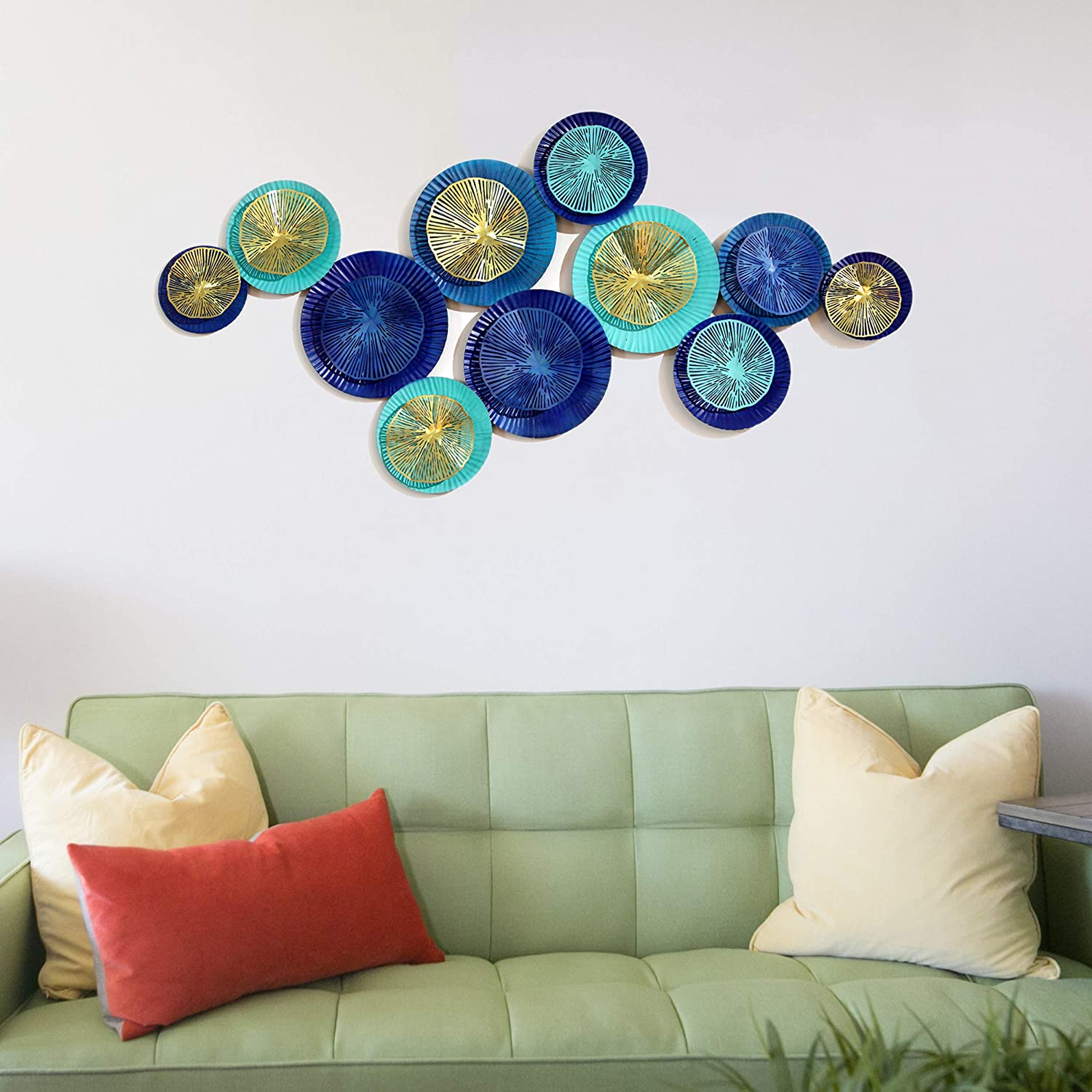 Decorlives Handmade 2021 spring and summer new Collection Columbus Mall Decorative Metal W Hanging Circle