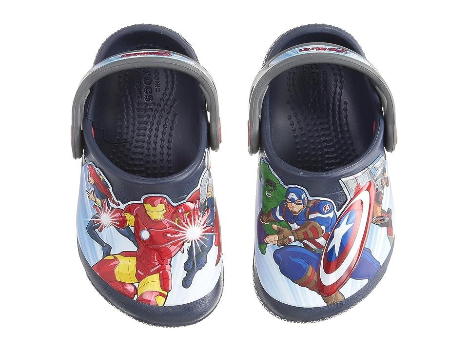 Crocs Kids FunLab Avengers Multi Clog (Toddler/Little Kid) (Navy) Boys Shoes