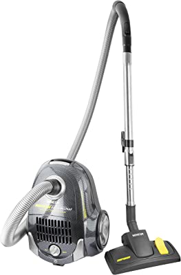 Sencor SVC7CA 1200W Vacuum Cleaner with 5 Step Filtration System and Accessories, Carbon Fibre Black