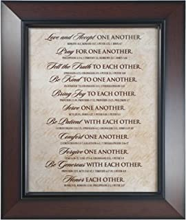 Lighthouse Christian Products One Another Framed Print Wall Plaque, 15 1/4 x 18
