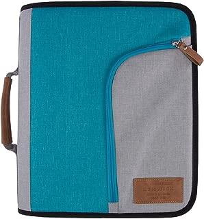 Renwick 3 Ring Binder Portfolio Organizer with Tablet Sleeve (Turquoise/Gray)